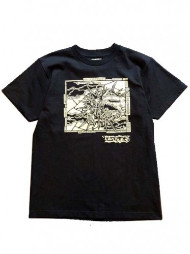 "ESCAPE / ""NOSE ART"" TEE - BLACK"
