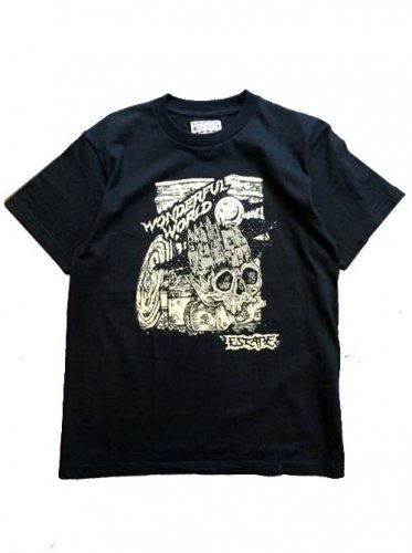 "ESCAPE / ""WONDERFUL WORLD""TEE - BLACK"