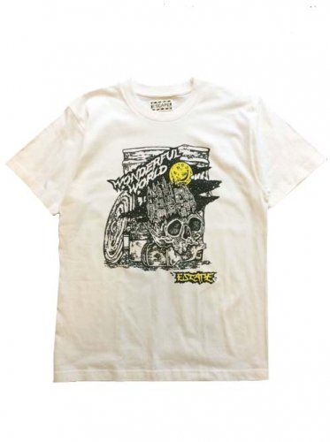 "ESCAPE / ""WONDERFUL WORLD""TEE - WHITE"