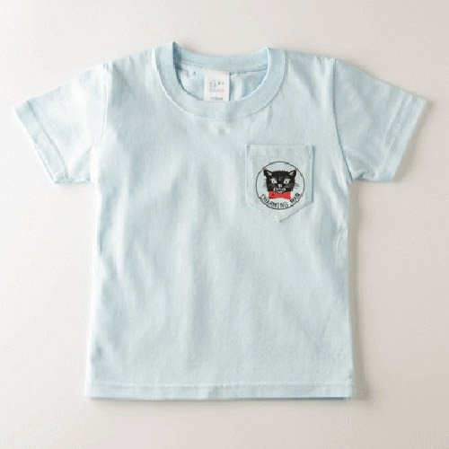 CHARMING MAN /  CATMAN POCKET T-Shirts - LITE BLUE