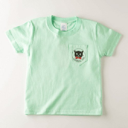 CHARMING MAN /  CATMAN POCKET T-Shirts - LITE GREEN
