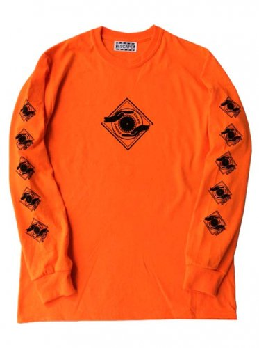 ESCAPE / LOGO MARK LONG SLEEVE T-SHIRT - ORANGE