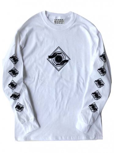 ESCAPE / LOGO MARK LONG SLEEVE T-SHIRT - WHITE