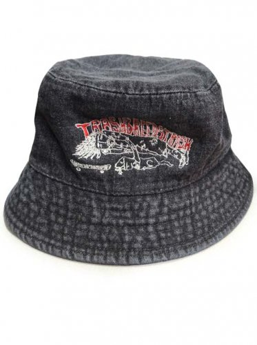 TRASH BREEDS TRASH / TRASH君 SAFARI HAT - デニムBLACK