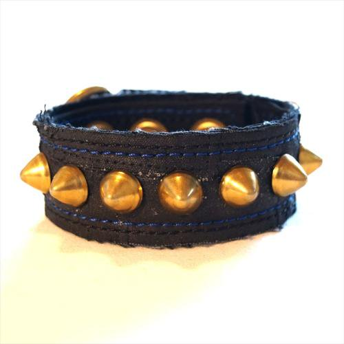ACT / OILED TSUGIHAGI WRISTBAND - BLUE