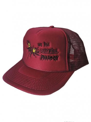 <img class='new_mark_img1' src='https://img.shop-pro.jp/img/new/icons16.gif' style='border:none;display:inline;margin:0px;padding:0px;width:auto;' />PARADOX  / COCKROACH EMBROIDERED MESH CAP - BURGANDY