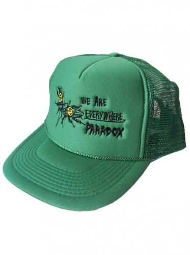 <img class='new_mark_img1' src='https://img.shop-pro.jp/img/new/icons16.gif' style='border:none;display:inline;margin:0px;padding:0px;width:auto;' />PARADOX  / COCKROACH EMBROIDERED MESH CAP - GREEN
