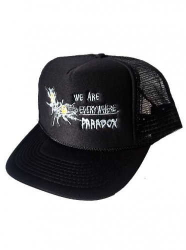 PARADOX  / COCKROACH EMBROIDERED MESH CAP - BLACK
