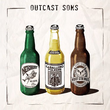 NEIGHBORS,HOOT STRINGS,CABALLERO POLKERS 3way split / OUTCAST SONS