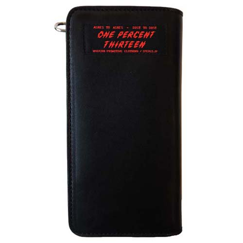 1%13 / AUTHENTIC LEATHER LONG WALLET - BLACK