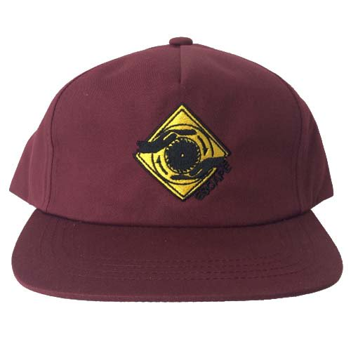ESCAPE / 5PANEL LOGO CAP - MAROON
