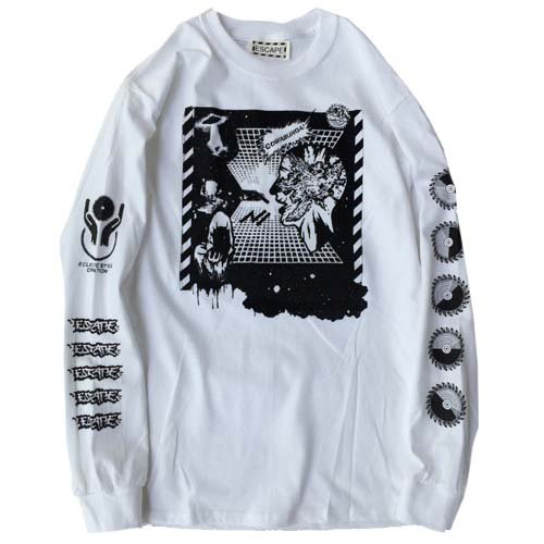 ESCAPE / EXPLOSION POWER LONG SLEEVE T-SHIRT - WHITE