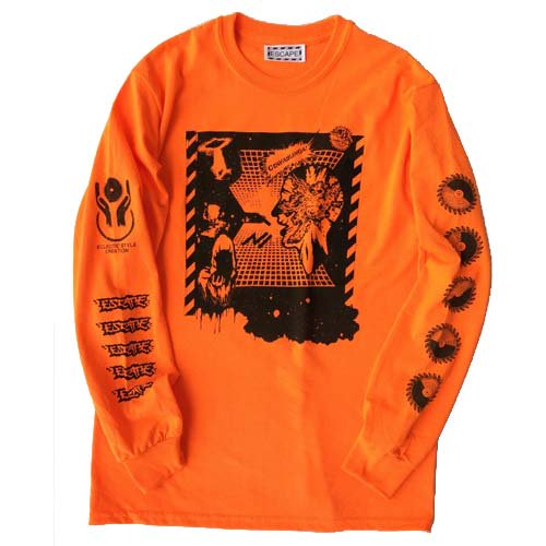 ESCAPE / EXPLOSION POWER LONG SLEEVE T-SHIRT - ORANGE