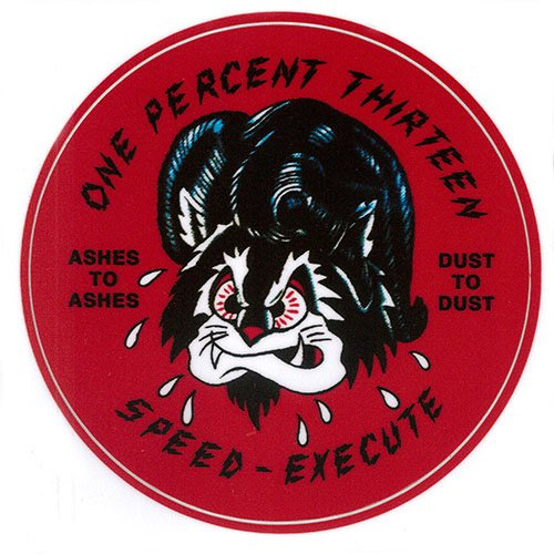 1%13 / SPEED EXECUTE STICKER - RED
