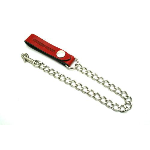 1%13 / 1%13 LEATHER WALLET CHAIN - RED