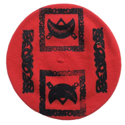 SEDITION / Pictish Symbol BERET - RED x BLACK
