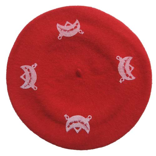 SEDITION / Pictish Symbol BERET - RED x WHITE
