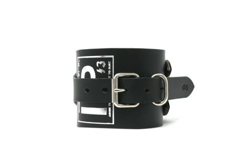 1%13 / Unclean Wrist Band ( for Left Hand )  - BLACK LEATHER x SILVER PARTS