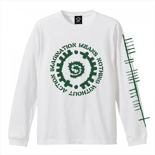 予約商品 ACT x INSIDE BOUND / GLYPH LONG SLEEVE TEE - WHITE x GREEN