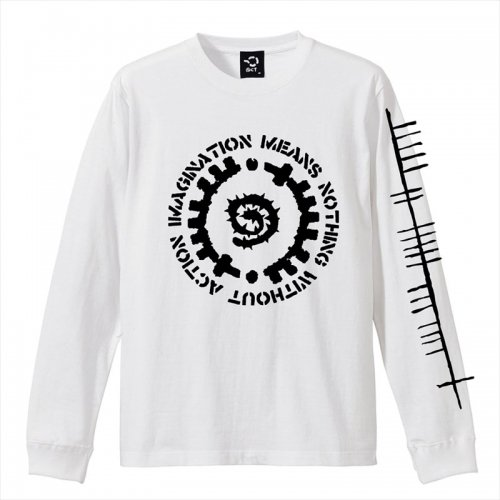 予約商品 ACT x INSIDE BOUND / GLYPH LONG SLEEVE TEE - WHITE x BLACK