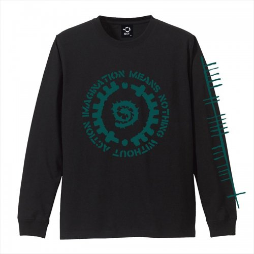 予約商品 ACT x INSIDE BOUND / GLYPH LONG SLEEVE TEE - BLACK x GREEN