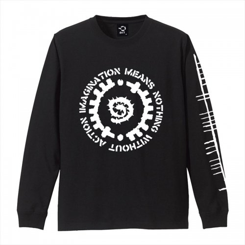 予約商品 ACT x INSIDE BOUND / GLYPH LONG SLEEVE TEE - BLACK x WHITE