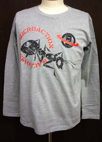 MICRO ACTION / 昆宙 LONG SLEEVE T-shirts-Gray