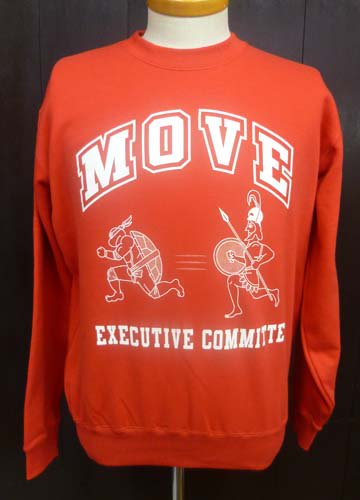 MOVE CREW NECK SWEAT/Red
