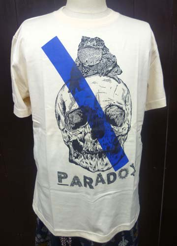PARADOX / TOAD ON THE SKULL TEE-Natural Blue LINE