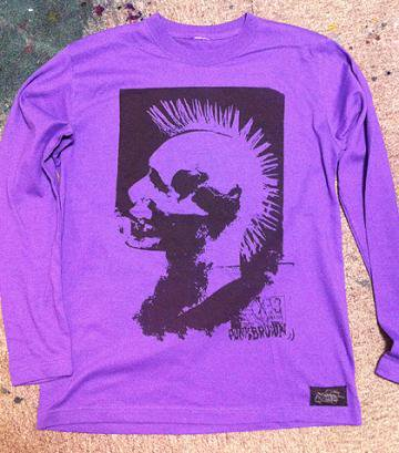 PUNK BROWN / RIOTOUS ASSEMBLY LONG SLEEVE-PURPLE