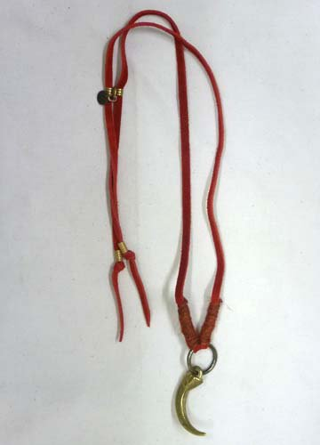 GARA / LETHER CLAW CHOKER-Red