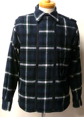 <img class='new_mark_img1' src='https://img.shop-pro.jp/img/new/icons16.gif' style='border:none;display:inline;margin:0px;padding:0px;width:auto;' />Zleipnes / W Zip Flannel Shirts-Navy