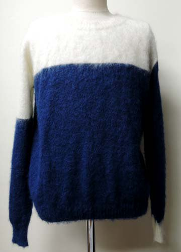<img class='new_mark_img1' src='//img.shop-pro.jp/img/new/icons16.gif' style='border:none;display:inline;margin:0px;padding:0px;width:auto;' />Zleipnes / Dandelion Mohair Knit-Off White x Blue