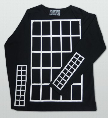 NAMALI / 格子Raglan LONG SLEEVE T-Shirts-Black
