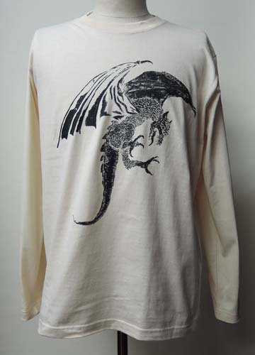 <img class='new_mark_img1' src='https://img.shop-pro.jp/img/new/icons16.gif' style='border:none;display:inline;margin:0px;padding:0px;width:auto;' />Zleipnes / PEN DRAGON LONG SLEEVE T-Shirts - NATURAL