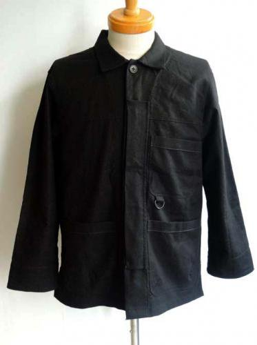 ESCAPE / C/L WORK SHIRT JACKET - BLACK x BLACK