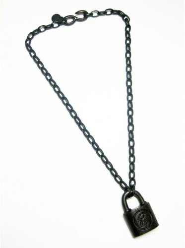 GARA  / WOODDEN PADLOCK NECKLACE