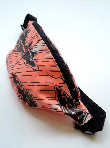 ESCAPE / WAIST BAG - ORANGE × BLACK