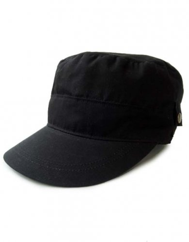 CATANA / FLAP WORK CAP - BLACK