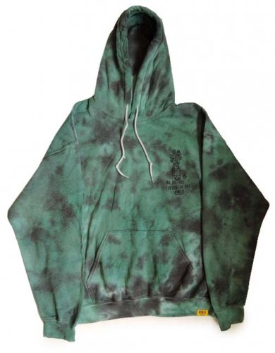 PARADOX x D.Y.E / WAR IS OLD PULLOVER HOOD - GREEN x BLACK