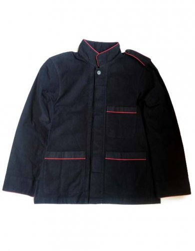ESCAPE / KUNG-FU SHIRT JACKET - BLACK