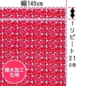 マリメッコ(marimekko)テーブルクロス(生地)ミニウニッコ(Mini-Unikko)レッド【撥水加工/10cm単位販…