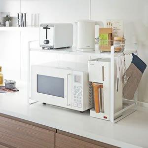 伸縮レンジラック タワー【キッチン収納/おしゃれ】