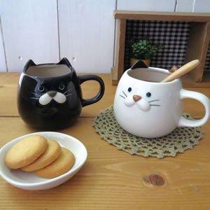 デコレ(DECOLE)ぽってりねこマグ【キッチン雑貨】