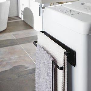 洗濯機横マグネットタオルハンガー2段 タワー【洗濯用品/おしゃれ】
