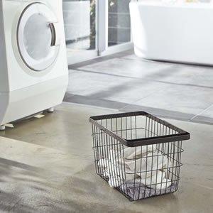 ランドリーワイヤーバスケット タワー【洗濯用品/おしゃれ】