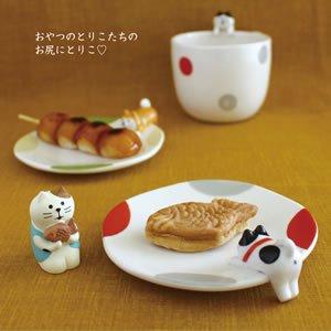 デコレ(DECOLE)おやつのとりこ皿【柴犬とハチワレ猫/キッチン雑貨】