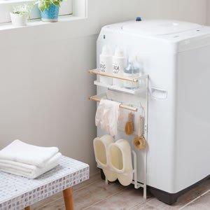 洗濯機マグネット収納ラック トスカ【洗面所/バスルーム】
