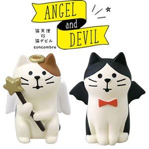 デコレ(DECOLE)concombre エンジェルvsデビル【猫/置物】