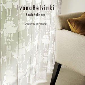 イヴァナ ヘルシンキ(Ivana Helsinki)レースカーテン ティットケルホ ボイル(Tyttokerho voile)1枚入【おしゃれ/北欧カーテン…
